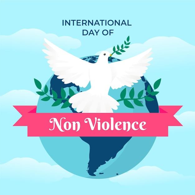 Journée Internationale De La Non-violence Vecteur gratuit