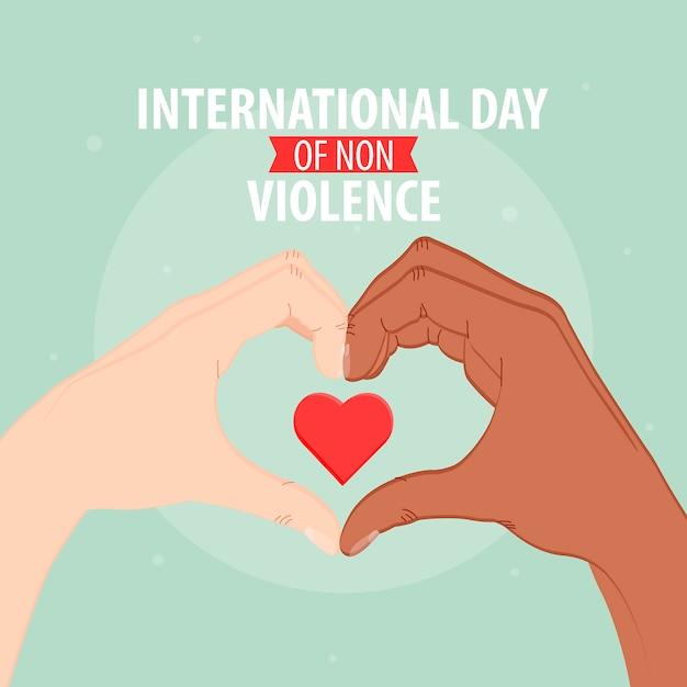 Journée Internationale De La Non-violence Vecteur Premium