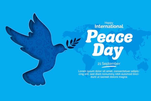 Journée Internationale De La Paix Dans Le Style Du Papier Vecteur gratuit