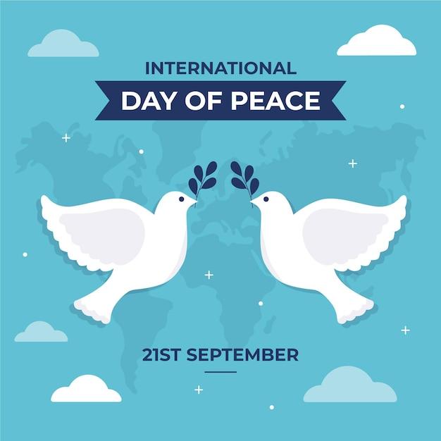 Journée Internationale De La Paix Design Plat Vecteur Premium