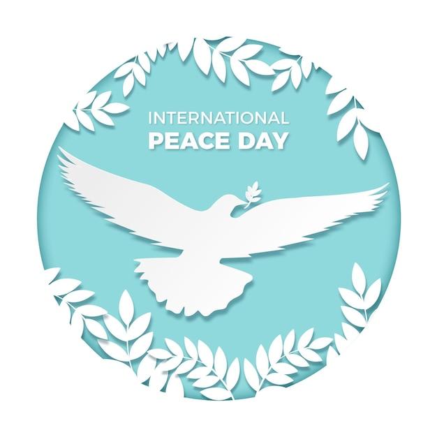 Journée Internationale De La Paix En Illustration De Style Papier Vecteur gratuit