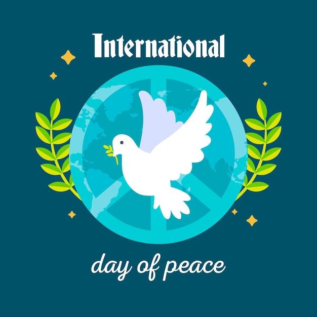 Journée Internationale De La Paix à Plat Vecteur gratuit