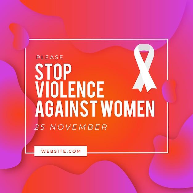 Journée Internationale Pour L'élimination De La Violence à L'égard Des Femmes Vecteur gratuit