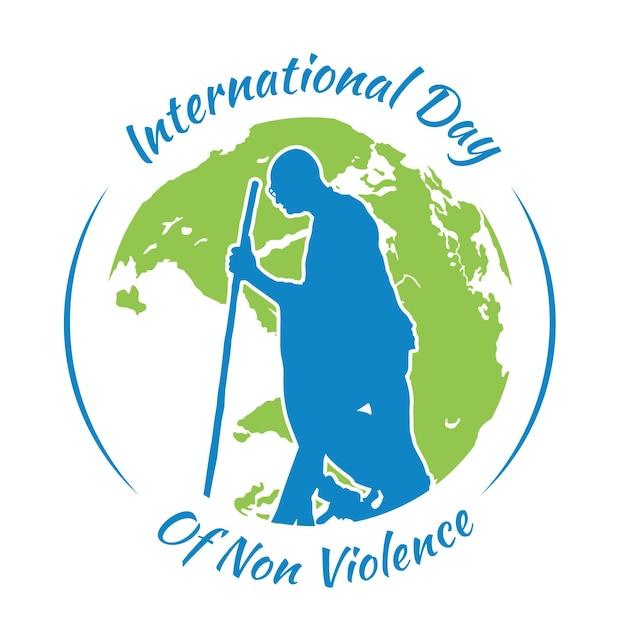 Journée Internationale De La Représentation De La Non-violence Au Design Plat Vecteur gratuit