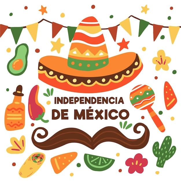 Journée Internationale Sombrero Du Mexique Vecteur gratuit