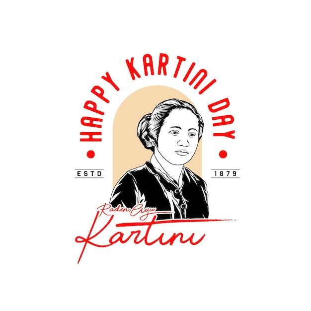 Journée Kartini Vecteur Premium