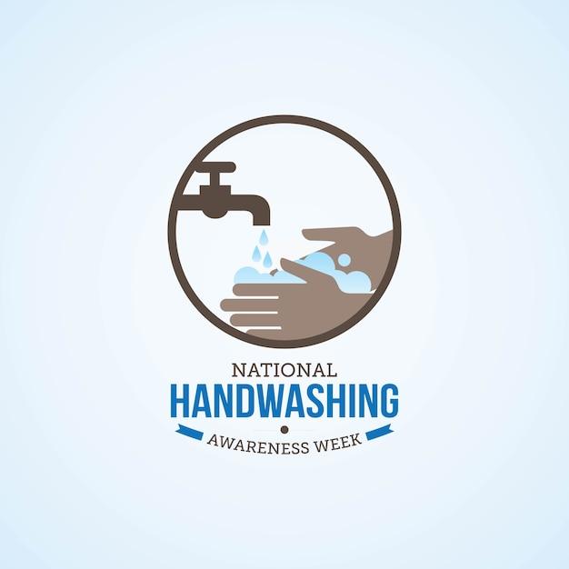 Journée de lavage des mains Vecteur Premium