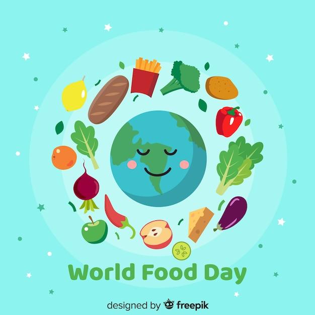 Journée Mondiale De L'alimentation Au Design Plat Vecteur gratuit