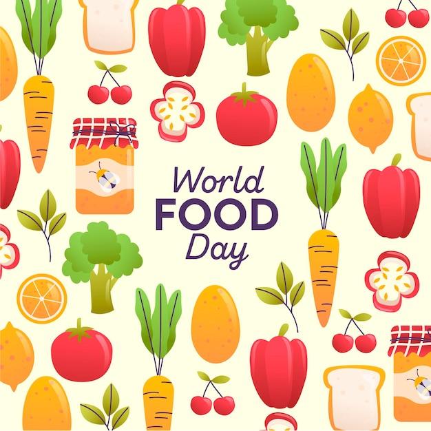 Journée Mondiale De L'alimentation Vecteur gratuit