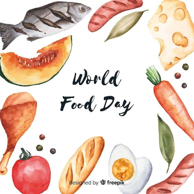 Journée mondiale de l'aquarelle Vecteur gratuit