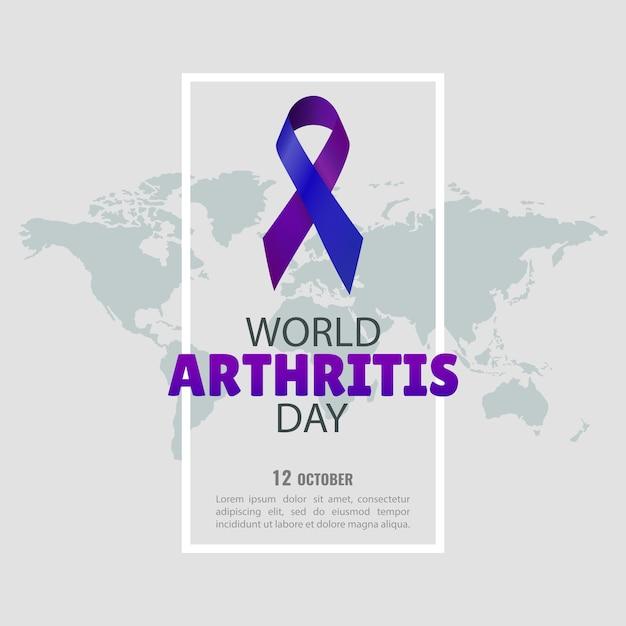 Journée Mondiale De L'arthrite Vecteur Premium