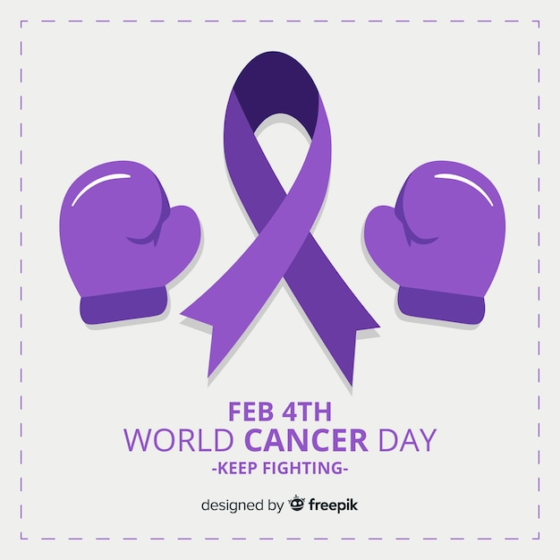 Journée mondiale contre le cancer Vecteur gratuit