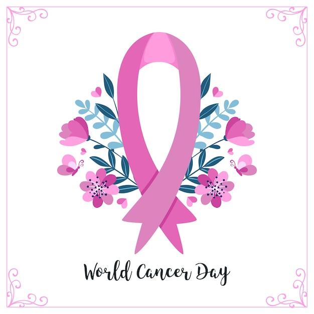 Journée mondiale contre le cancer Vecteur Premium