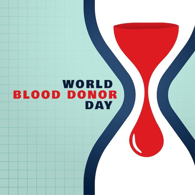 Journée mondiale des donneurs de sang sauver le fond du concept de sang Vecteur gratuit