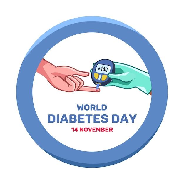 Journée Mondiale Du Diabète Design Plat Vecteur gratuit