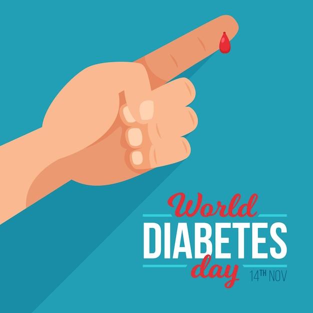 Journée Mondiale Du Diabète Vecteur Premium