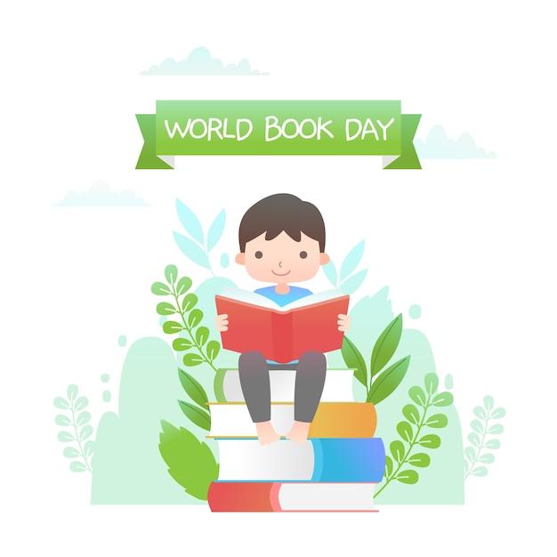 Journée Mondiale Du Livre Design Plat Vecteur gratuit