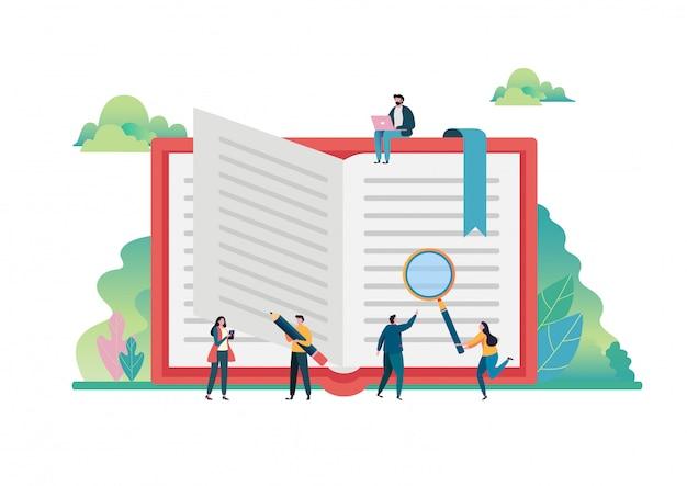 Journée mondiale du livre. Vecteur Premium