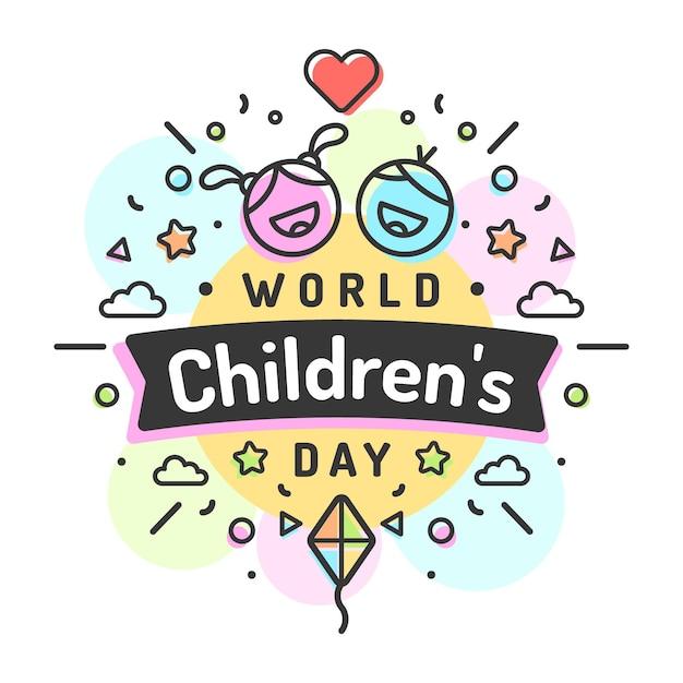 Journée Mondiale Des Enfants Design Plat Vecteur gratuit