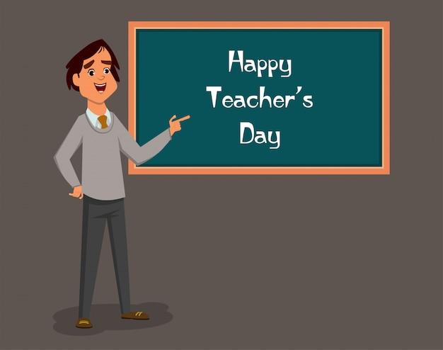 Journée mondiale des enseignants Vecteur Premium