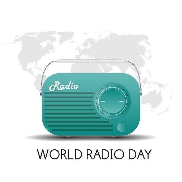 Journée Mondiale De La Radio Vecteur Premium