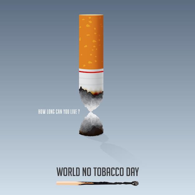 Journée Mondiale Sans Tabac, 31 Mai Affiche Non-fumeur. Vecteur Premium