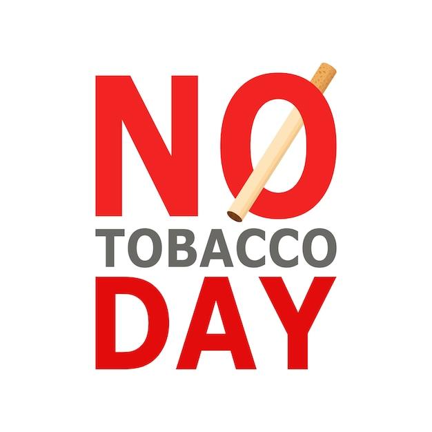 Journée mondiale sans tabac, le 31 mai. style de bande dessinée Vecteur Premium