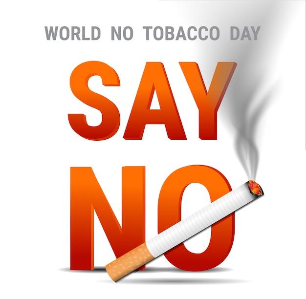 Journée mondiale sans tabac. inscription non-fumeur Vecteur Premium