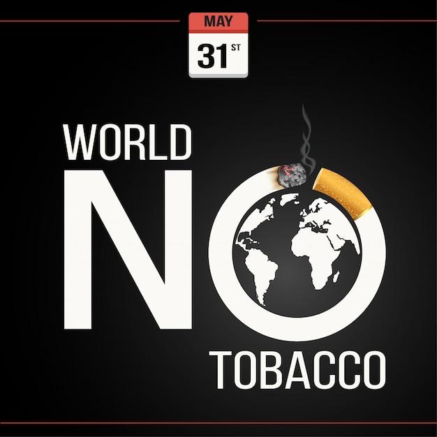 Journée mondiale sans tabac Vecteur Premium