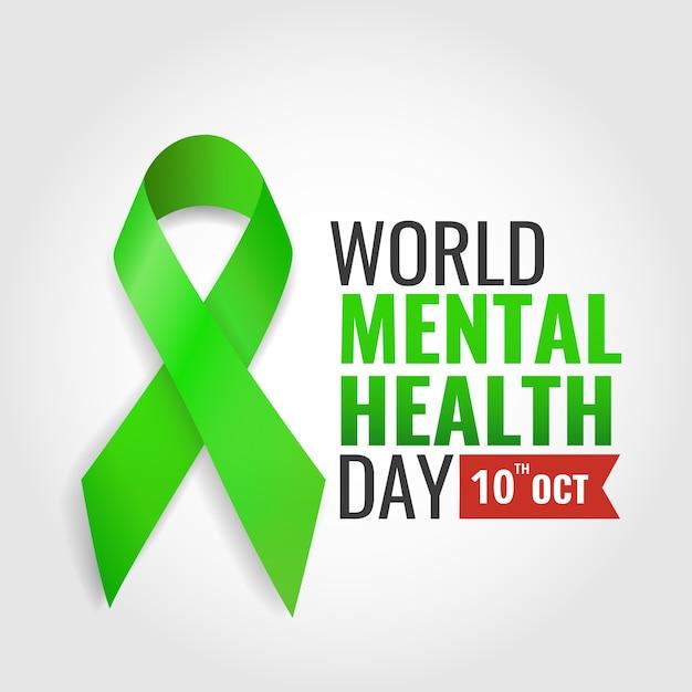Journée Mondiale De La Santé Mentale Vecteur Premium