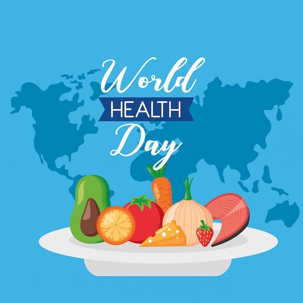 Journée mondiale de la santé Vecteur gratuit
