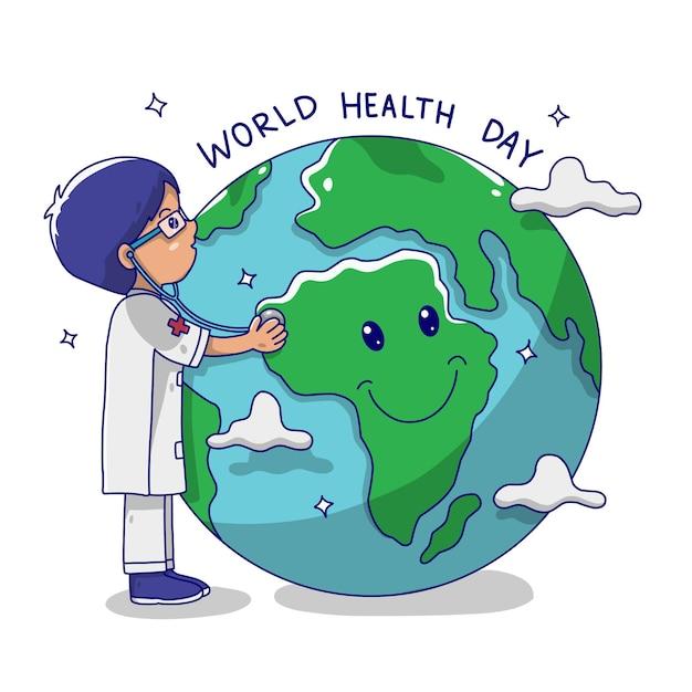 Journée Mondiale De La Santé Vecteur Premium