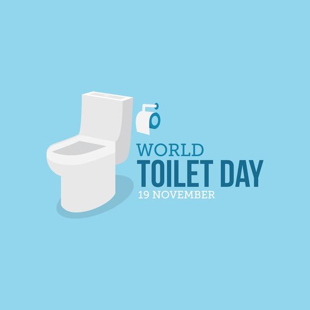 Journée Mondiale Des Toilettes Vecteur Premium