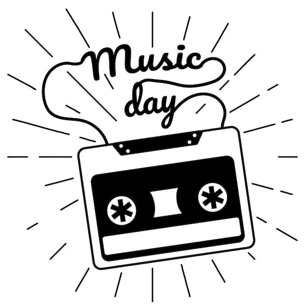 Journée de la musique Vecteur Premium