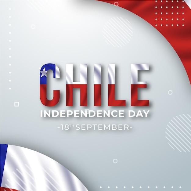 Journée Nationale Du Chili Memphis Design Vecteur gratuit