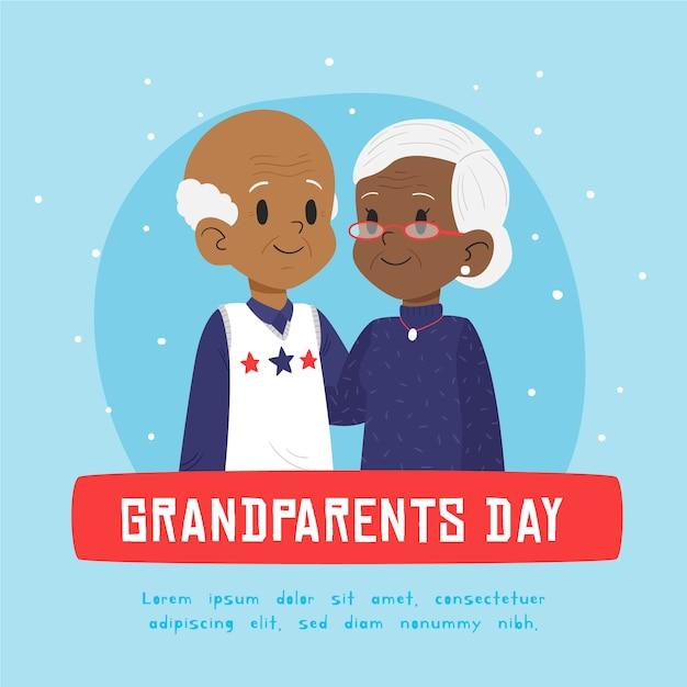 Journée Nationale Des Grands-parents Vecteur gratuit