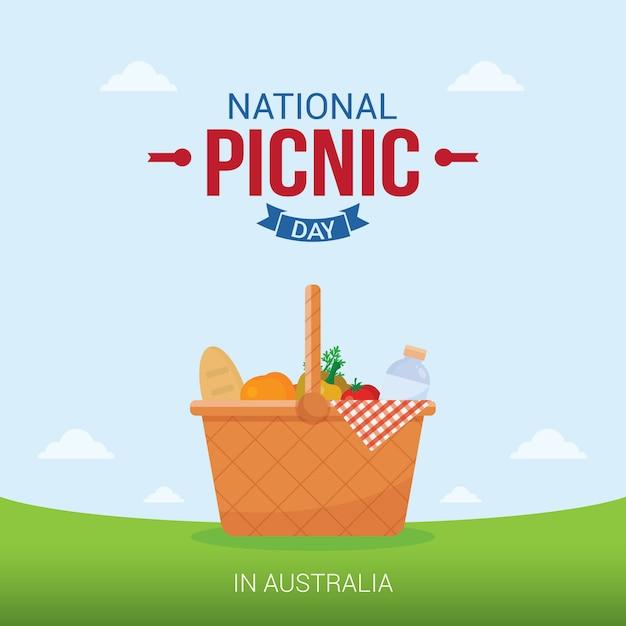 Journée nationale de pique-nique Vecteur Premium