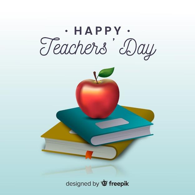 Journée des professeurs de style réaliste Vecteur gratuit