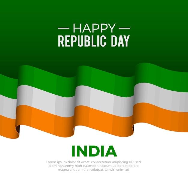 Journée De La République Indienne Réaliste Vecteur gratuit