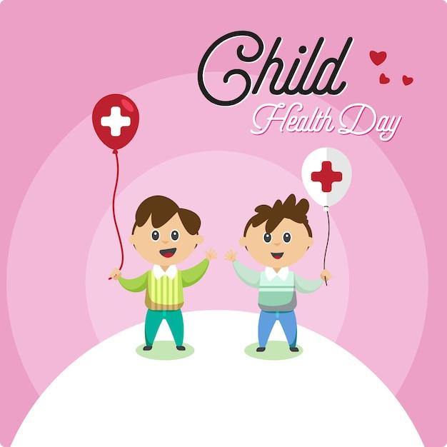 Journée de la santé de l'enfant Vecteur Premium
