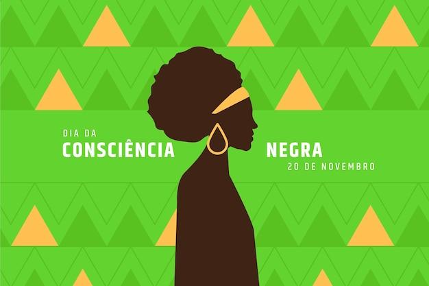 Journée De Sensibilisation Au Noir Au Design Plat Vecteur Premium