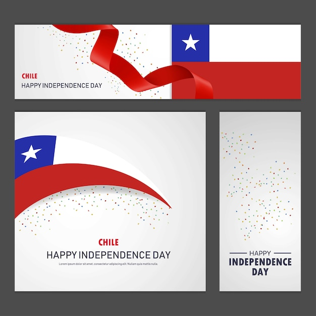 Joyeuse fête de l'indépendance du Chili Vecteur gratuit