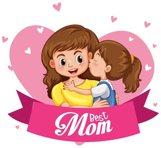 Joyeuse fête des mères Vecteur gratuit