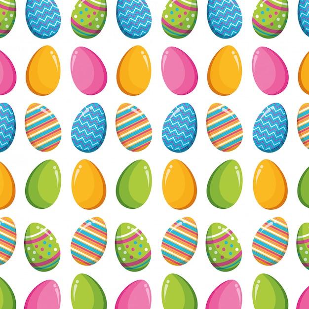 Joyeuse Fête De Pâques Vecteur gratuit
