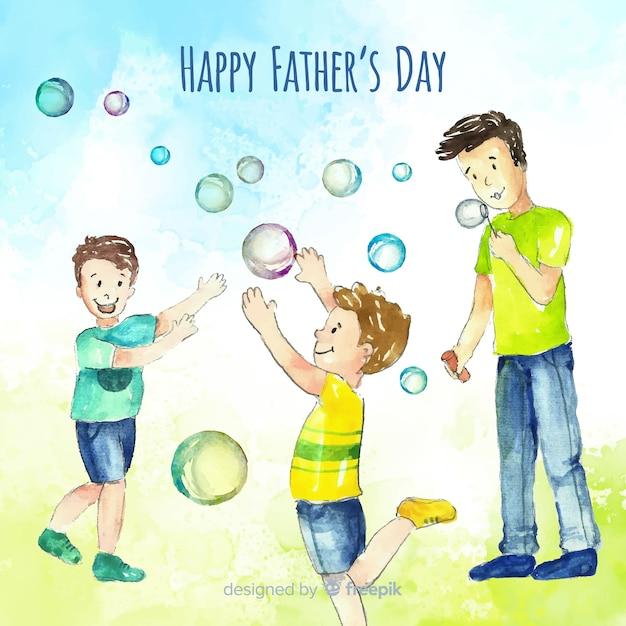 Joyeuse fête des pères Vecteur gratuit