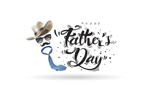 Joyeuse fête des pères Vecteur Premium