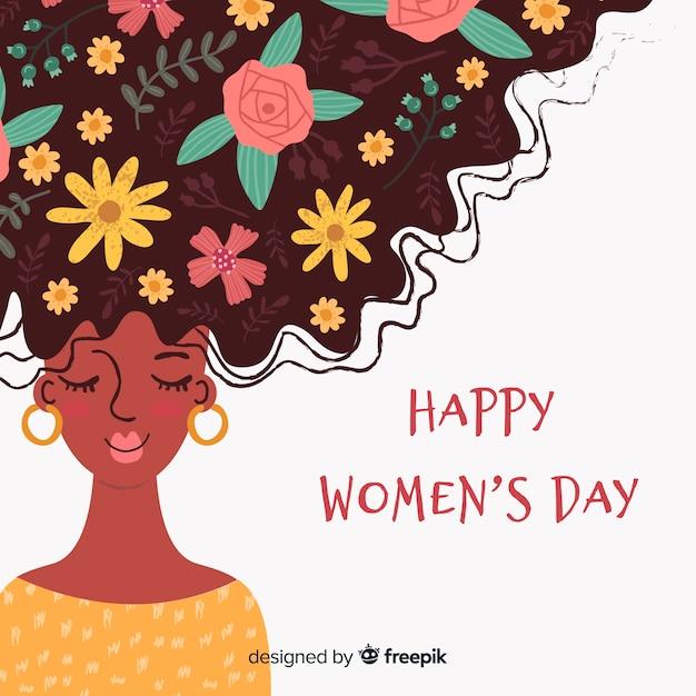 Joyeuse journée de la femme Vecteur gratuit