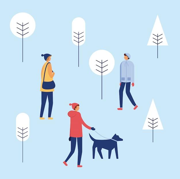 Joyeuses fêtes d'hiver Vecteur gratuit