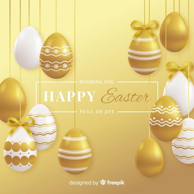 Joyeuses fêtes de pâques Vecteur gratuit