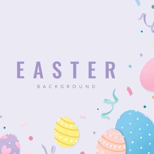 Joyeuses pâques 2019 vecteur de fond Vecteur gratuit